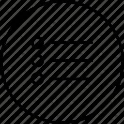 align, arrange, filter, line, option, show, view icon
