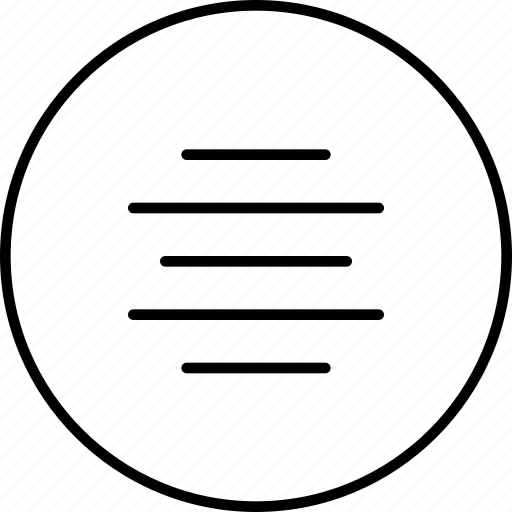 align, arrange, center, line, text icon