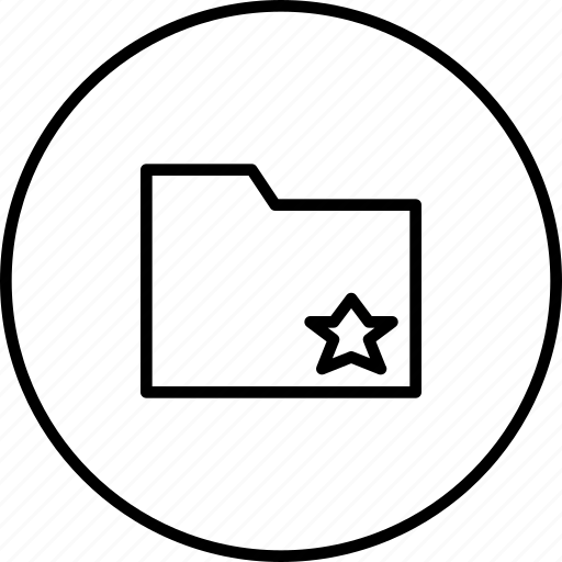 document, favorite, folder, mark, star icon