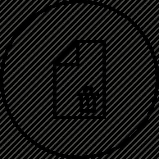 clear, delete, document, erase, file, remove icon