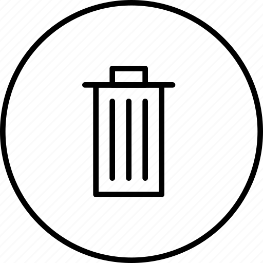 clear, delete, erase, remove, trash icon