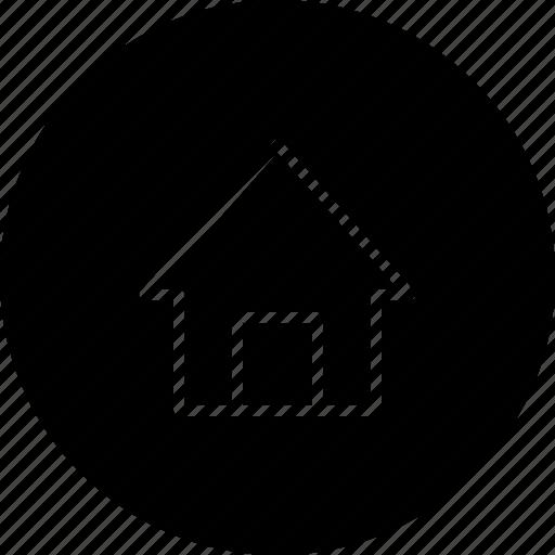 building, desktop, home, house, menu icon