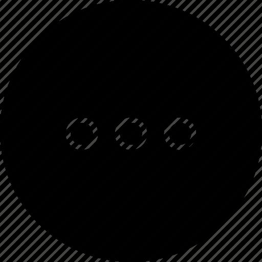 hide, menu, more, options, settings icon