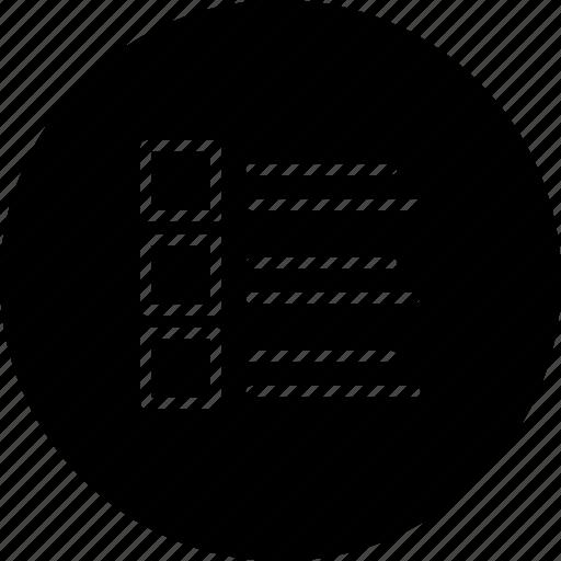 arrange, line, list, show, view icon