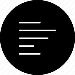 align, left, line, side, text icon