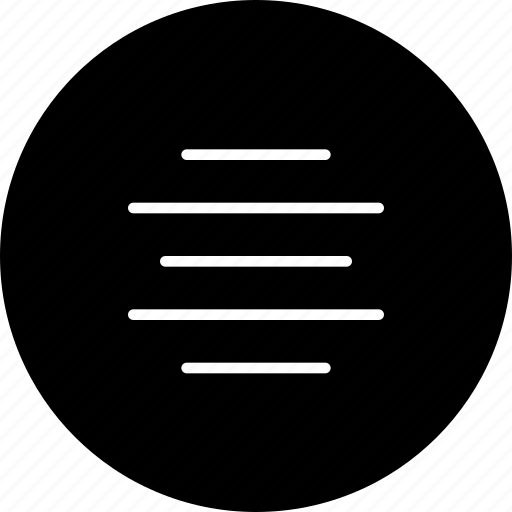 align, center, justify, line, text icon