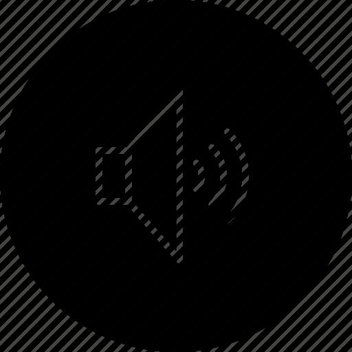 media, music, sound, speaker, video, volume icon