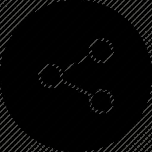 distribute, internet, network, share, split icon