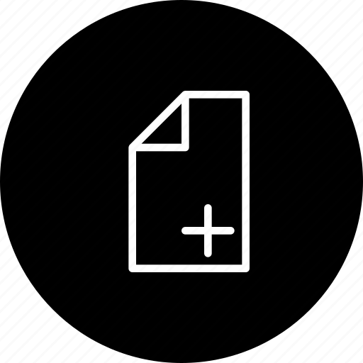 add, compose, create, document, file, new icon