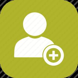 add, profile, user icon