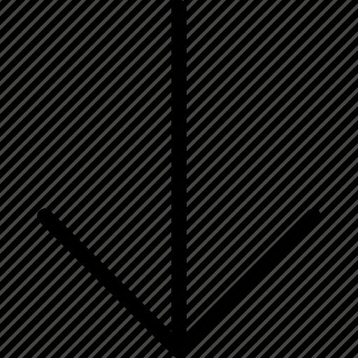arrow, bottom, direction, down, navigate icon