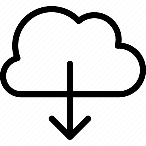 cloud, communicate, data, download, network, storage, transfer icon