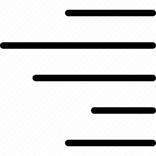 align, arrange, right, side, sort icon
