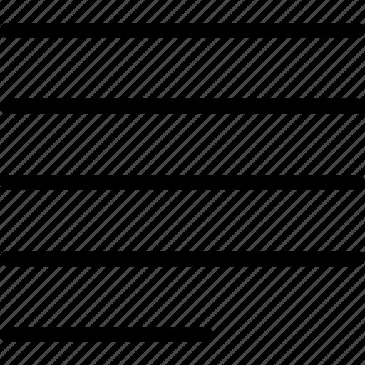 align, arrange, justify, left, side icon