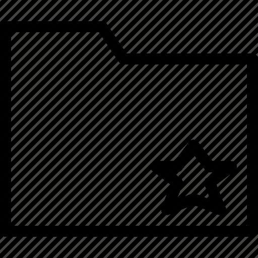 favorite, folder, important, mark, star icon