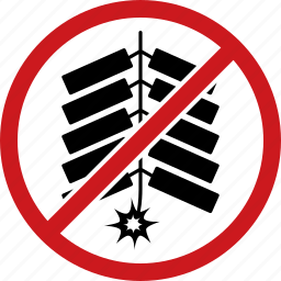 ban, banned, firecracker, firecrackers, firework, fireworks, no icon
