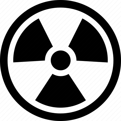 atomic, danger, nuclear, radiation, radioactive, radioactivity, war icon