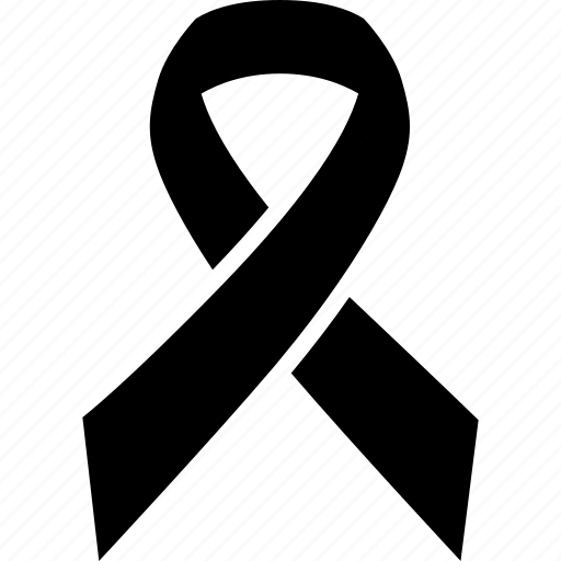 black, breast, cancer, grief, mourning, remembrance, ribbon icon