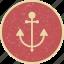anchor, cruise icon