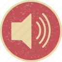 audio, high, music, sound, speaker, volume icon