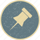 bulletin, marker, notice, pin icon