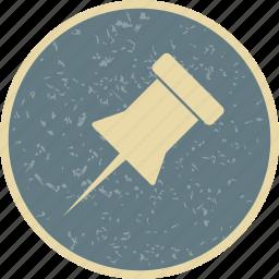 bulletin, notice, pin icon