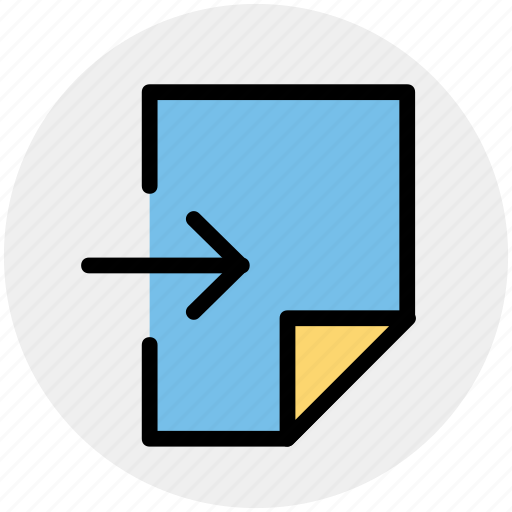 arrow, document, file, page, right, sheet icon
