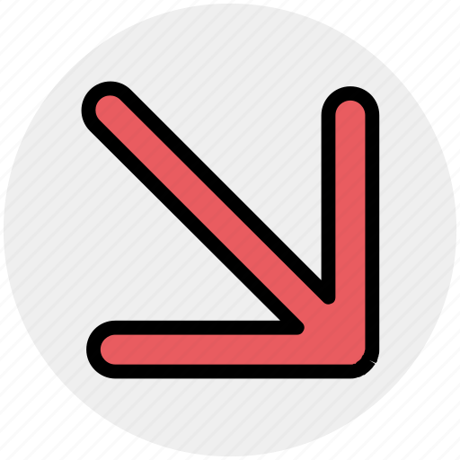 arrow, cursor, down, mouse, mouse arrow, pointer icon