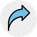 arrow, back, direction, right, right arrow icon