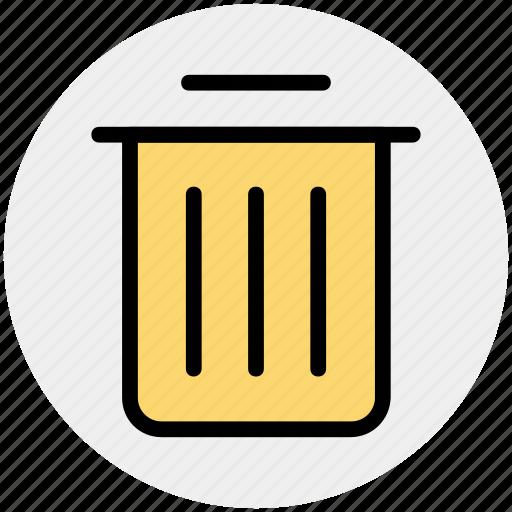 basket, bin, dust, dust bin, household, trash icon