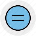 calculator, equal, equal sign, math, symbols icon