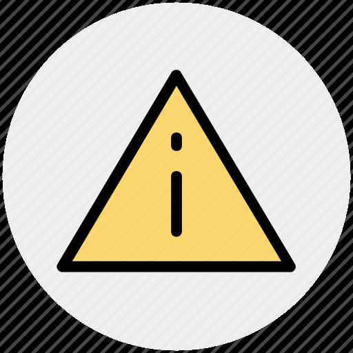 graphics, info, percent, sign, symbols, triangle, warning icon