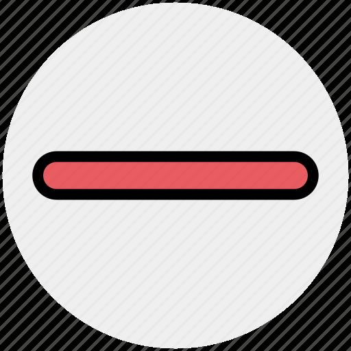 create, interface, minus, minus sign, new, remove icon