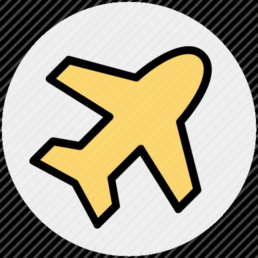 aircraft, airplane, flight, plane, transport, travel icon