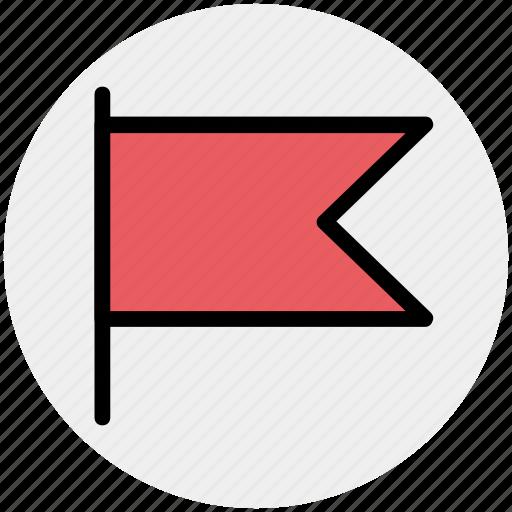 flag, goal, location flag, sign, warning icon