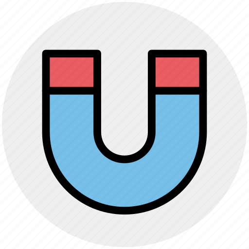 attract, customer magnet, horseshoe, magnet, snap, tool icon