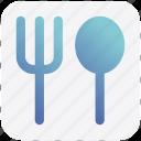 food, spoon, lunch, fork spoon, fork, restaurant
