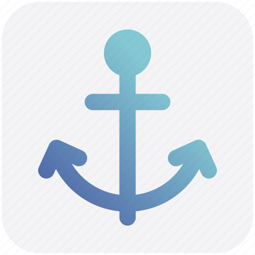 anchor, boat, chip anchor, marine, port, ship icon