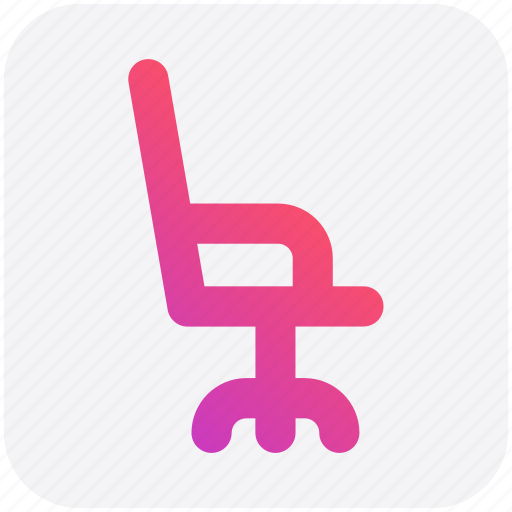 chair, furniture, interior, office chair, seat icon