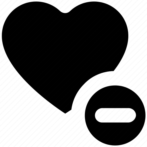 Favorite, heart, like, love, minus, romantic icon - Download on Iconfinder