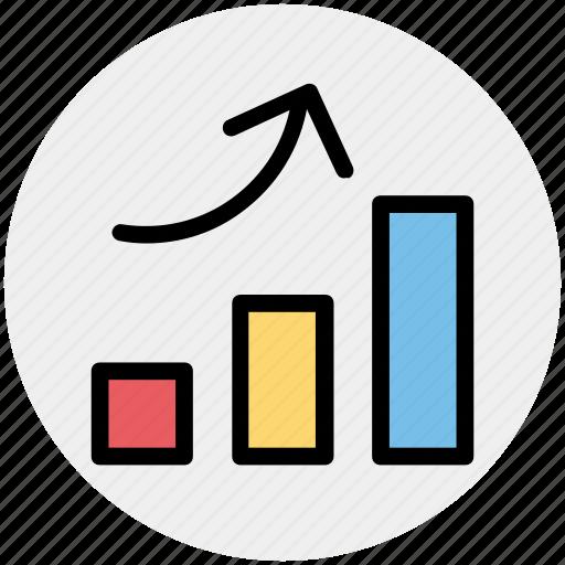bar, chart, diagram, graph, pie chart, up icon