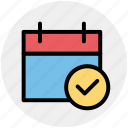 accept, agenda, appointment, calendar, day, right icon