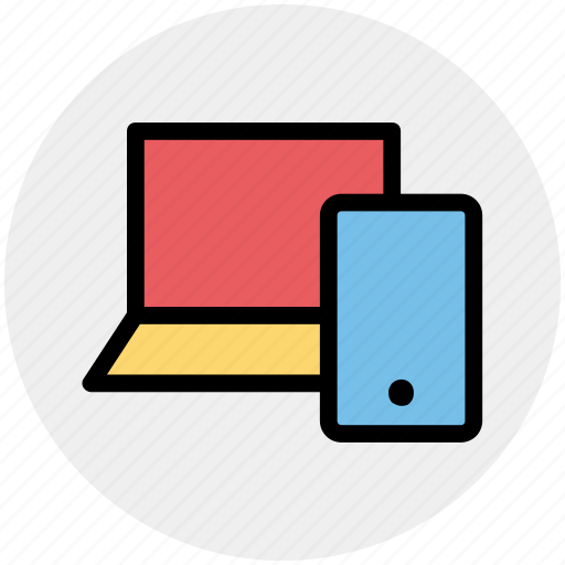 cell phone, computer, display, laptop, mobile, mobile and laptop icon