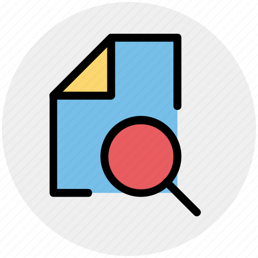 doc, file, page, paper, searching, sheet icon