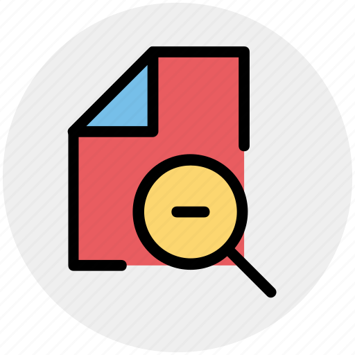 doc, file, minus, page, paper, sheet icon
