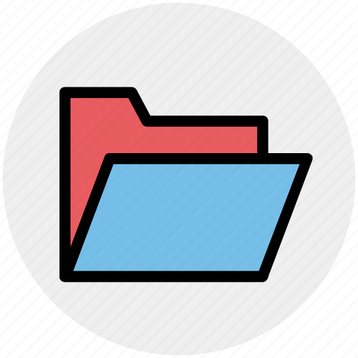 archive, computer folder, file folder, folder, open folder, saving folder icon