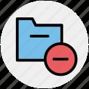 computer folder, saving folder, archive, file folder, folder, minus