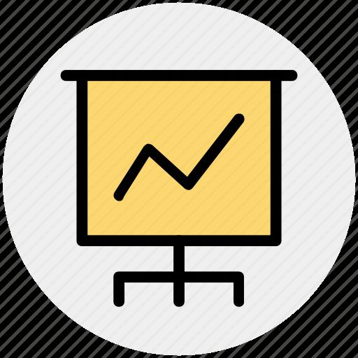 bar, board, chart, diagram, graph board, pie chart, statistics icon