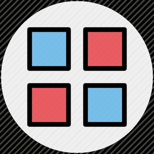 apps, grid, groups, list, menu, set icon