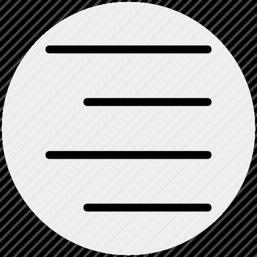 align, alignment, center, center align, right icon